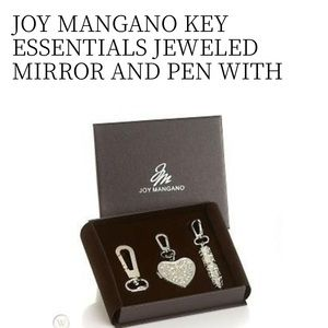 JOY MANGANO KEY ESSENTIALS JEWELED MIRROR AND PEN